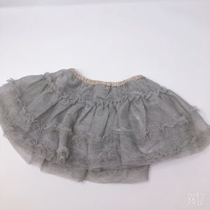 Gray Skirt with Gray Diaper Cover